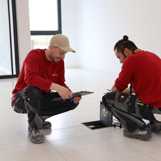 Mitarbeiter bei der Arbeit