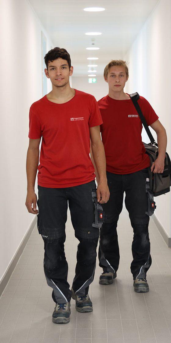 Mitarbeiter in Gebäude